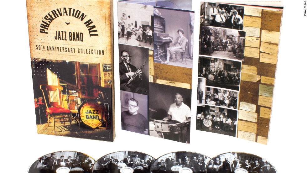 "Preservation Hall is a New Orleans institution, a French Quarter jazz club known for its eclectic performers and inexpensive entrance fee. The cornerstone is the Preservation Hall Jazz Band, and on ""The Preservation Hall Jazz Band 50th Anniversary Collection"" -- compiled and annotated by producer Ben Jaffe (son of founder Allan Jaffe) -- the band's history is detailed on such songs as ""His Eye Is on the Sparrow,"" ""St. James Infirmary"" and, of course, ""When the Saints Go Marchin' In."" (Sony/Legacy, four CDs)"
