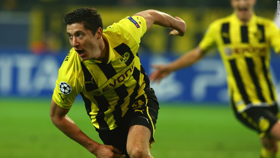 Dortmund's rise to prominence has forced their attractive young squad into the limelight. None more so than Polish striker Robert Lewandowski, who was strongly linked with a move to Manchester United earlier this year.