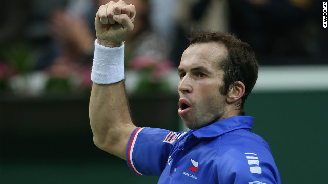 Radek Stepanek delivered the Czech Republic's first Davis Cup triumph since 1980 by beating Spain's Nicolas Almagro