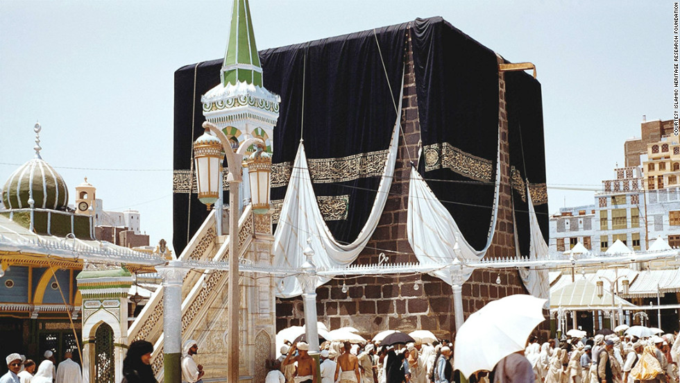 This photograph, taken of the Kaaba in 1954, shows how Mecca used to look.