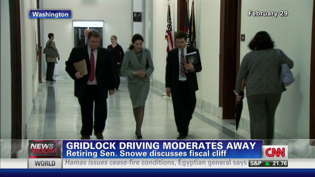Gridlock driving moderates away