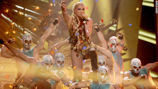 Kesha performs onstage during the 40th American Music Awards held at Nokia Theatre L.A. Live on November 18, 2012 in Los Angeles, California