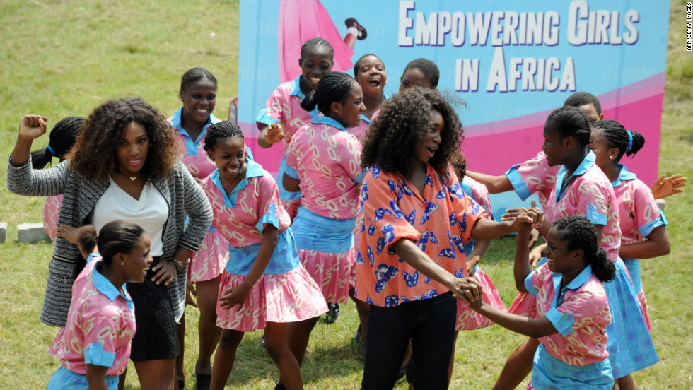 As soon as the tennis season finished Serena and Venus visited Africa, to promote an initiative that recognizes women of all ages who have broken the mould in their respective fields.