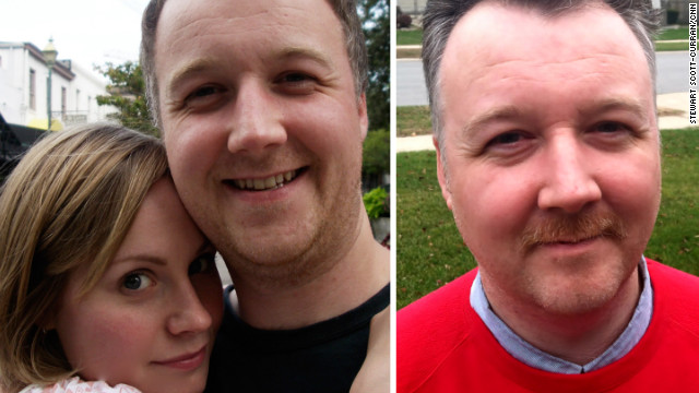 CNN art director Stewart Scott-Curran shaved his facial hair this month to participate in Movember.