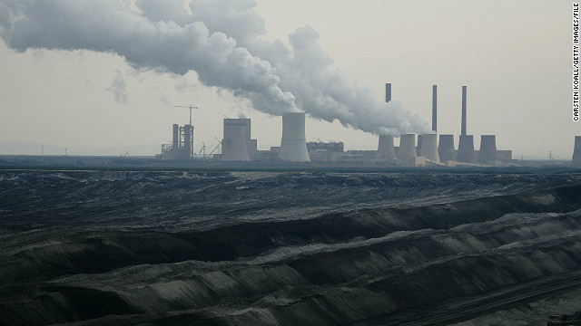 A lignite-fired (brown coal) power plant in Boxberg, Germany.