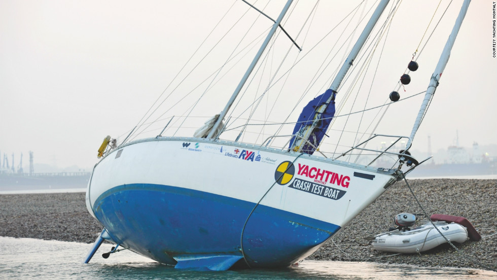 """If you're grounded on rocks, don't attempt to turn the yacht because you could rip out the keel,"" the Yachting Monthly team advise."
