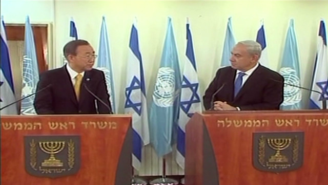 Netanyahu, Ban meet on Gaza