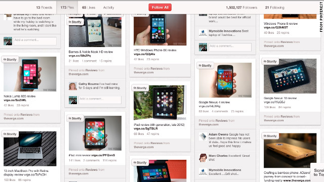 Tastemakers, like the tech site the Verge, are creating product guides on Pinterest.