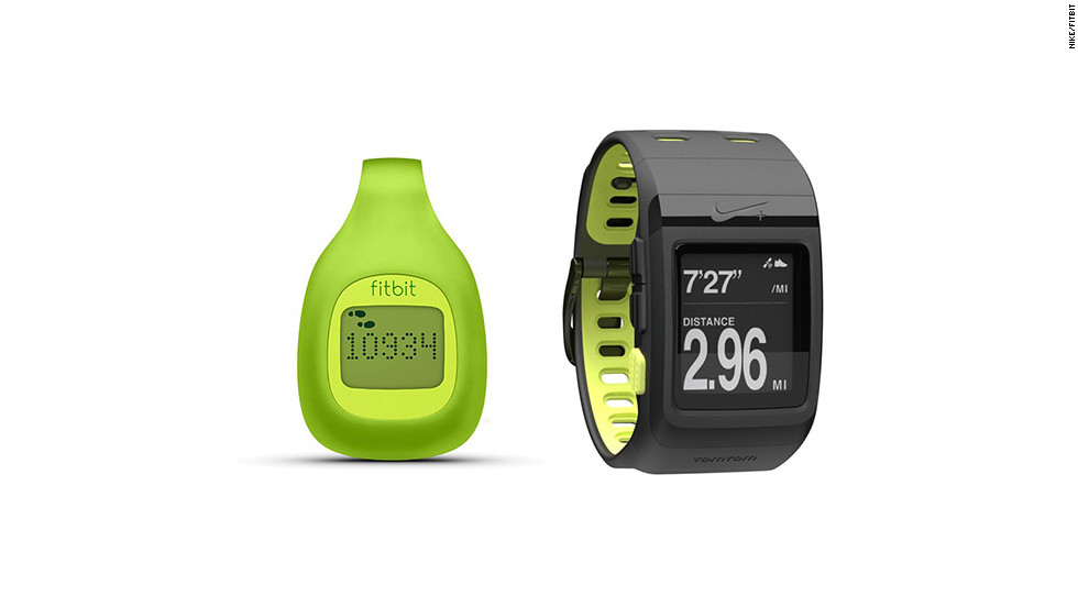 "Just in time for New Year's resolutions, these beefed-up pedometers track more than steps. The <a href=""http://www.fitbit.com/zip"" target=""_blank"">Fitbit Zip</a> (left, $60) tracks steps, calories and distance, and lets you compete against friends. The <a href=""http://nikeplus.nike.com/plus/products/sport_watch/"" target=""_blank"">Nike+ Sportwatch GPS</a> (right, $169) records your location, pace, calories and heart rate while keeping you motivated with gentle reminders."