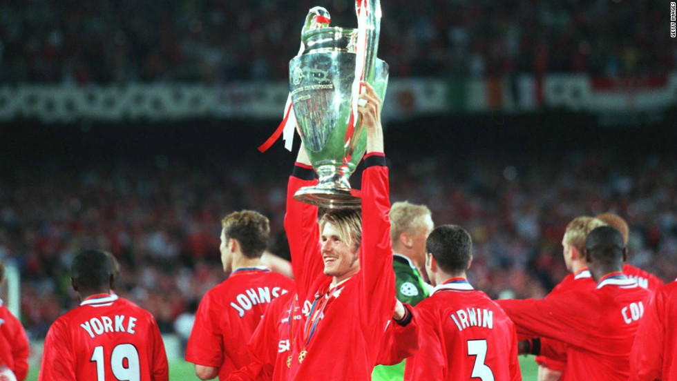 Beckham rebuilt his reputation and in 1999 was a key part of the Manchester United team which became the first English club to win the Premier League, FA Cup and European Champions League in the same season. The Old Trafford side, led by Alex Ferguson, secured the treble thanks to a stunning late comeback against Bayern Munich in the Champions League final.