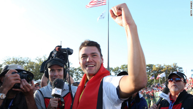 Martin Kaymer holed the putt which ensured Europe would retain the Ryder Cup.