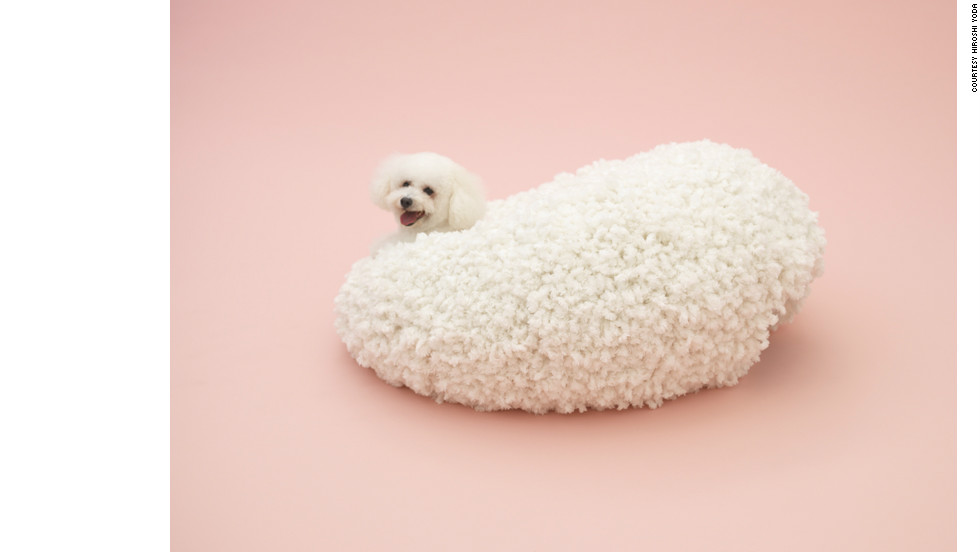 """Architecture for a Bichon Frise"" by Kazuyo Sejima, constructed in collaboration with knit designer Keiichi Muramatsu."