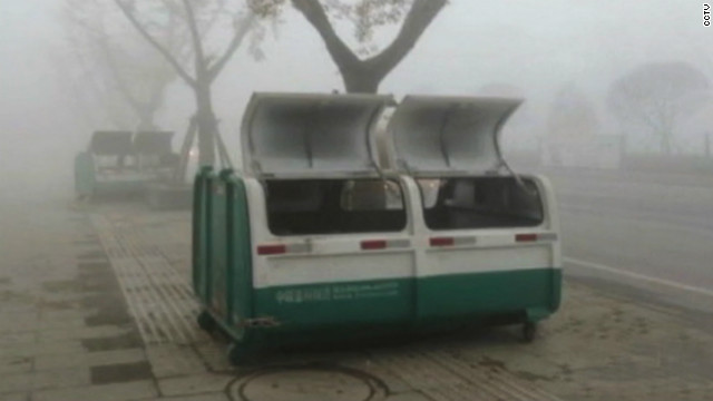 The dumpster where the bodies of the five boys were found by a trash collector in Bijie City on Friday, November 16.