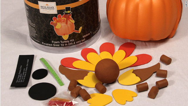 The Consumer Product Safety Commission says magnets in this Jo-Ann Fabrics foam turkey kit could pose a hazard.