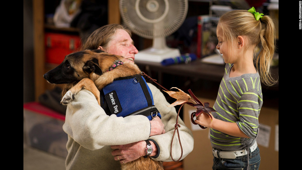 """The canine-human bond is an amazing gift that can make a difference for an individual to begin to feel and create their own new normal,"" Cortani said."