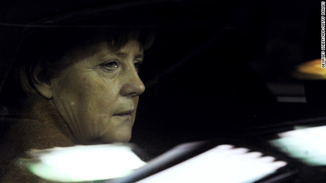 German Chancellor Angela Merkel arrives at the EU Headquarters on November 22, 2012 in Brussels.