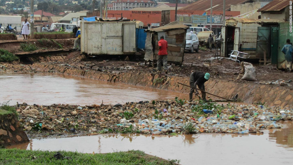 In Uganda, youth will be paid to collect and sort garbage and deliver it to a plant for conversion to fertilizer and biogas, in order to improve sanitation.