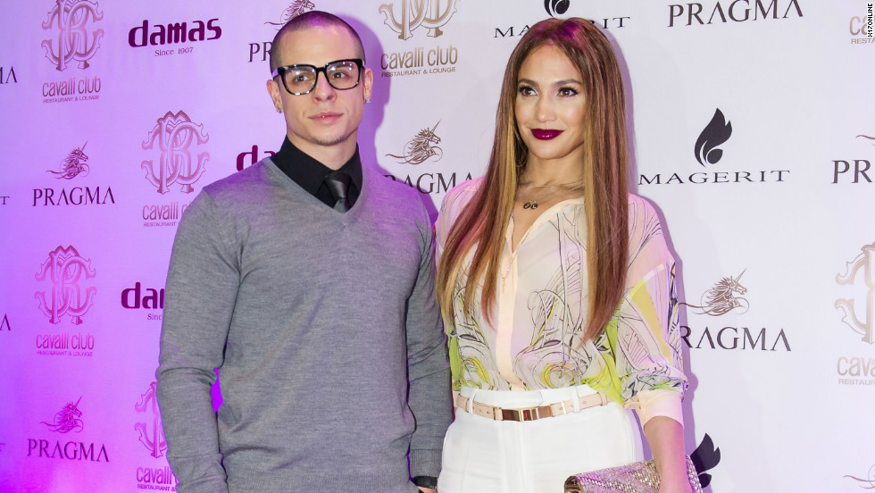 Jennifer Lopez and her boyfriend, Casper Smart, arrive at the Cavalli Club Restaurant and Lounge in Dubai on November 22.