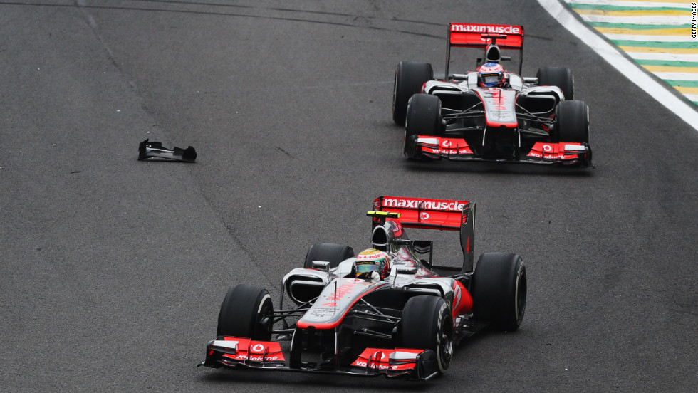 Hamilton had led at Interlagos before a collision with Force India's Nico Hulkenburg forced him out of the race and allowed teammate Jenson Button to pass and claim victory.