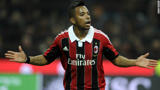 Robinho scored the only goal of the game as AC Milan claimed a 1-0 win over Juventus.