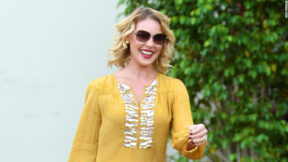 Katherine Heigl departs a Beverly Hills birthday lunch on November 24.