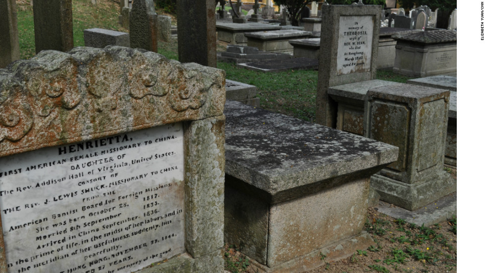 The two friends, Henrietta Shuck and Theodosia Dean, died within two years of each other and are separated by two graves.