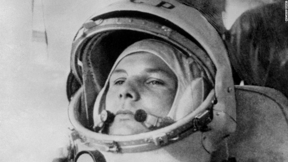 Soviet pilot and cosmonaut Yuri Gagarin made history as the first human to fly into space. On April 12, 1961, Gagarin took off in the Vostok 1, orbited the Earth and parachuted back to firm ground.