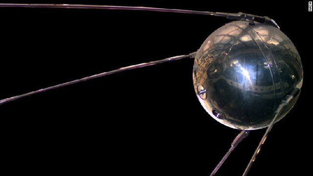 The 1957 Sputnik satellite.