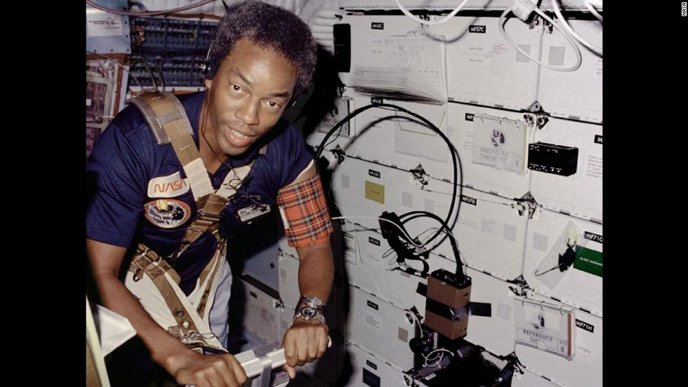 "Guion ""Guy"" Bluford was the first African-American to go into space. He was a mission specialist on the space shuttle challenger in 1983."