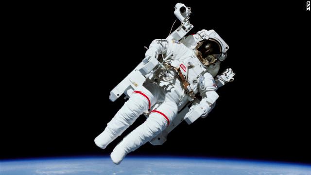 Bruce McCandless became the first astronaut to float in space untethered, thanks to a jetpack-like device called the Manned Maneuvering Unit.