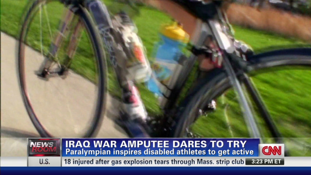 Iraq war amputee dares to try