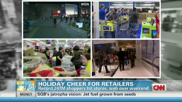 Record shoppers hit stores for holidays
