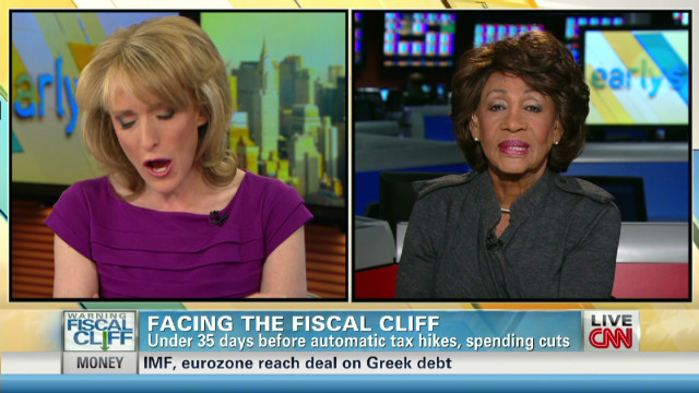 Congresswoman Waters talks fiscal cliff