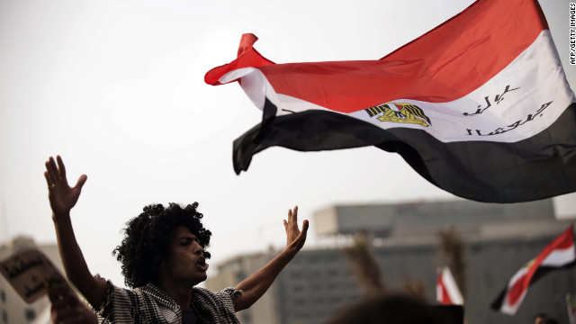 In Cairo's Tahrir Square on November 27, Egyptians protest against President Mohamed Morsi's decree granting himself broad powers.