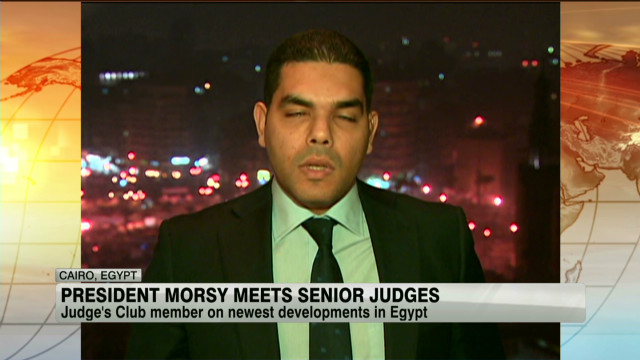 Egyptian judge on Morsy's edict