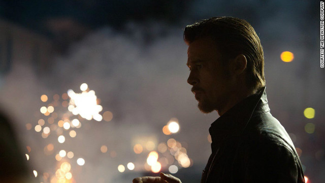 "Brad Pitt plays enforcer Jackie Cogan in ""Killing Them Softly."""