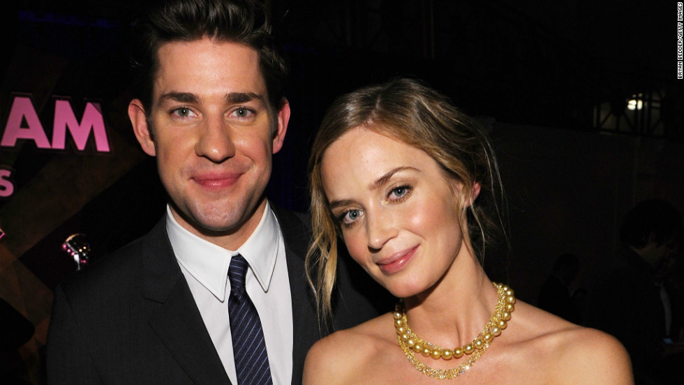 John Krasinski and Emily Blunt stay close at the 22nd Annual Gotham Independent Film Awards in New York City on November 26.