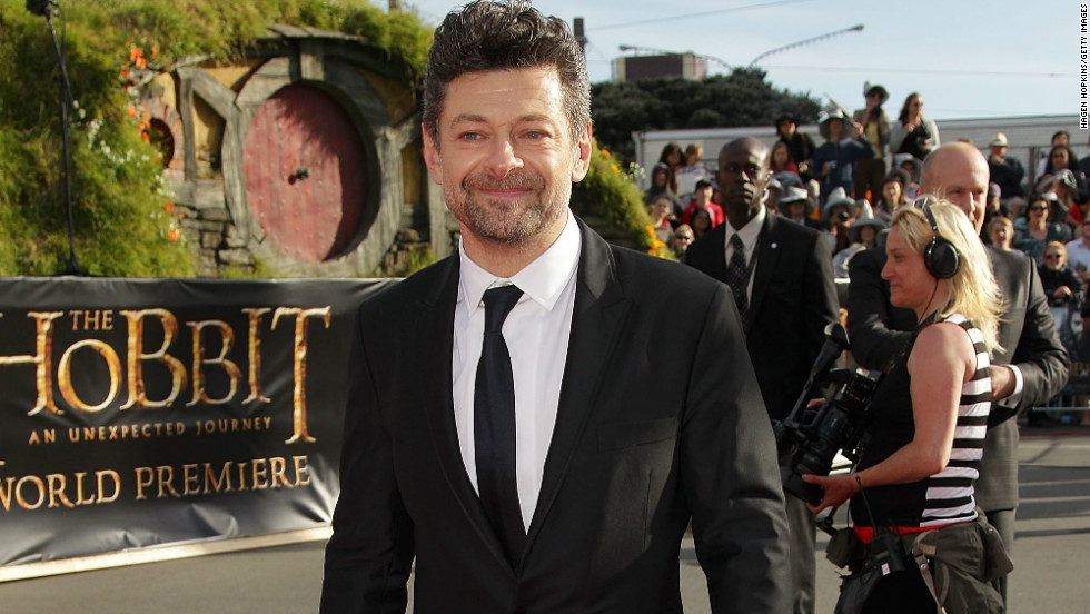 "Andy Serkis arrives at the Wellington, New Zealand, premiere for ""The Hobbit: An Unexpected Journey"" on November 28."