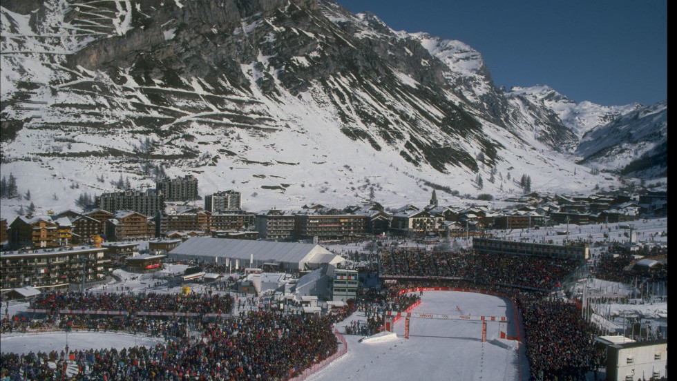 Val d'Isere hosted the alpine skiing at the 1992 Winter Olympics, and huge crowds flocked to the Alps.
