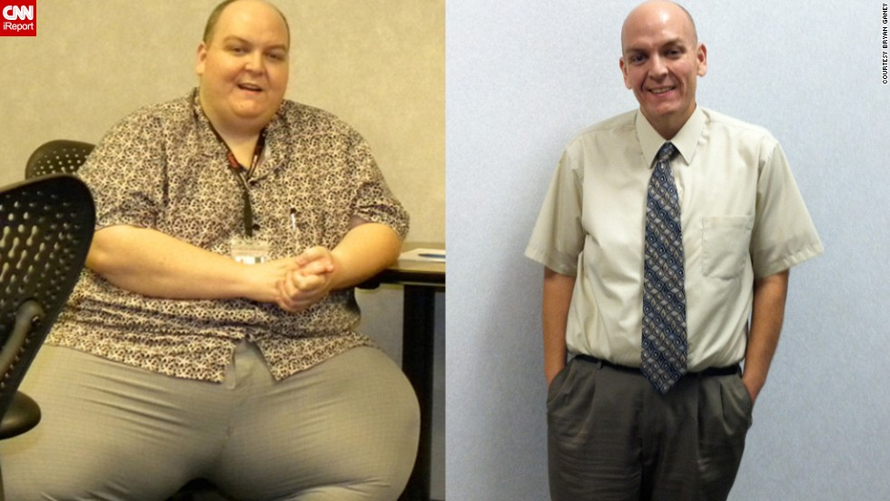 "For years, Bryan Ganey worked the night shift, binging on fast food and soda for breakfast, lunch and dinner. By 37, he had a <a href=""http://www.cnn.com/2012/01/25/health/weight-loss-profile-bryan-ganey"">body mass index of 87</a> (anything more than 30 is considered obese). Then a pulmonary embolism changed his life. <a href=""http://ganeybypass.blogspot.com/"" target=""_blank"">He says he's lost 370 pounds</a>."