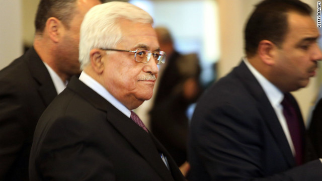 NEW YORK, NY - NOVEMBER 29: Palestinian Authority President Mahmoud Abbas arrives at the United Nations before a UN General Assembly vote on upgrading the status of the Palestinians to non-member observer state on November 29, 2012 in New York City. With many European nations in favor, it looks certain that the Palestinians will win the coveted U.N. recognition as a state today.