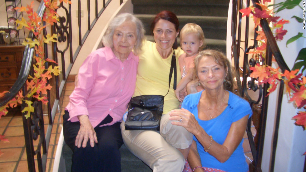 Hope with her grandmother, mother and daughter in 2011.