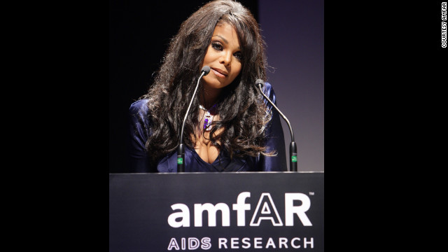 Singer Janet Jackson is an ambassador for amfAR, The Foundation for AIDS Research.