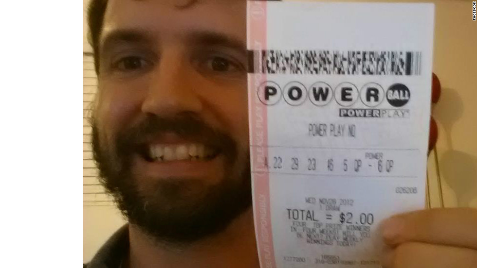 this facebook image of a man claiming to have won the 588 million powerball jackpot was