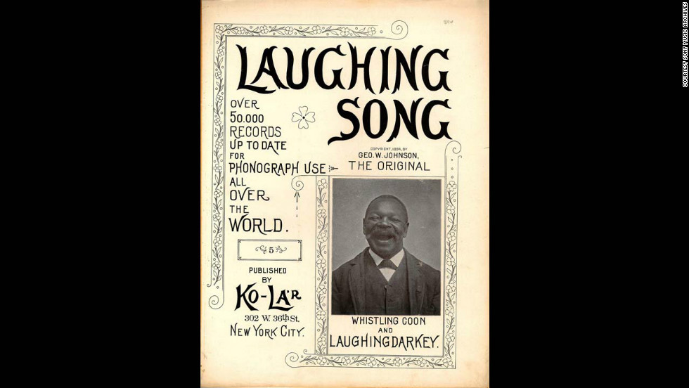 Laughing Song sheet music featuring George W. Johnson.
