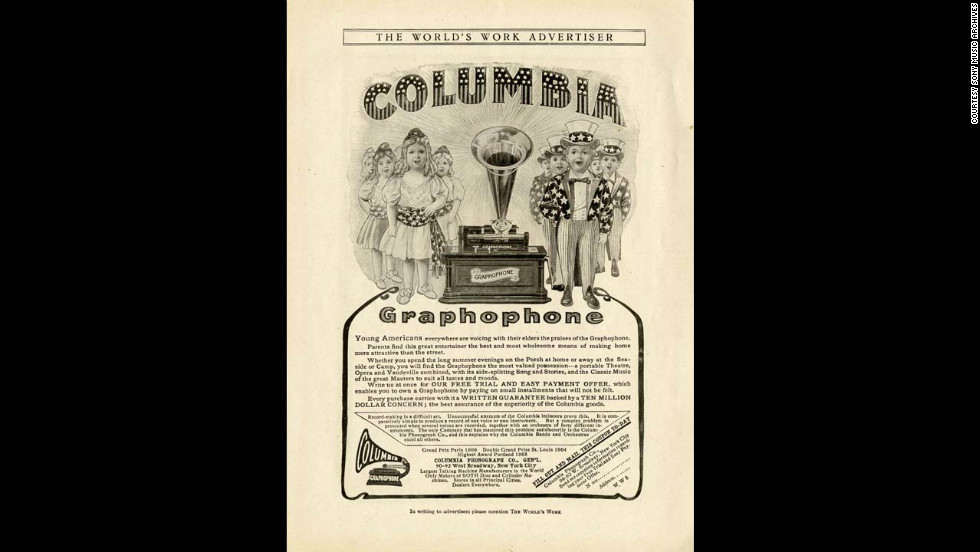 Advertisement for Columbia Graphophone