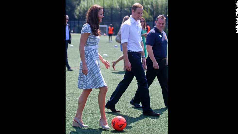 "Also on July 26, she and Prince William visited Bacon's College in London. The grey and white Hobbs dress she wore <a href=""http://www.fabsugar.com.au/Kate-Middletons-88-Hobbs-Dress-Has-Sold-Out-s-Still-Cute-Snoop-Her-Olympics-Style-from-All-Angles-24173205"" target=""_blank"">sold out quickly.</a>"