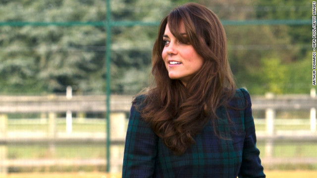 PANGBOURNE, UNITED KINGDOM - NOVEMBER 30: Catherine, Duchess of Cambridge takes part in a day of activities and festivities to mark the occasion of St Andrew's Day at St Andrew's School on November 30, 2012 in Pangbourne, Berkshire, England. The Duchess visited the Pre-Prep School for under-5s, unveiled a plaque to officially open a new artificial turf playing field and met members of the school's hockey team, which she played for during her time as a pupil at the school (1986-1995). The Duchess also toured the school privately and watched the school's Progressive Games which are traditional games played indoors by teachers and students on St. Andrew's Day. (Photo by Arthur Edwards - WPA Pool/Getty Images)