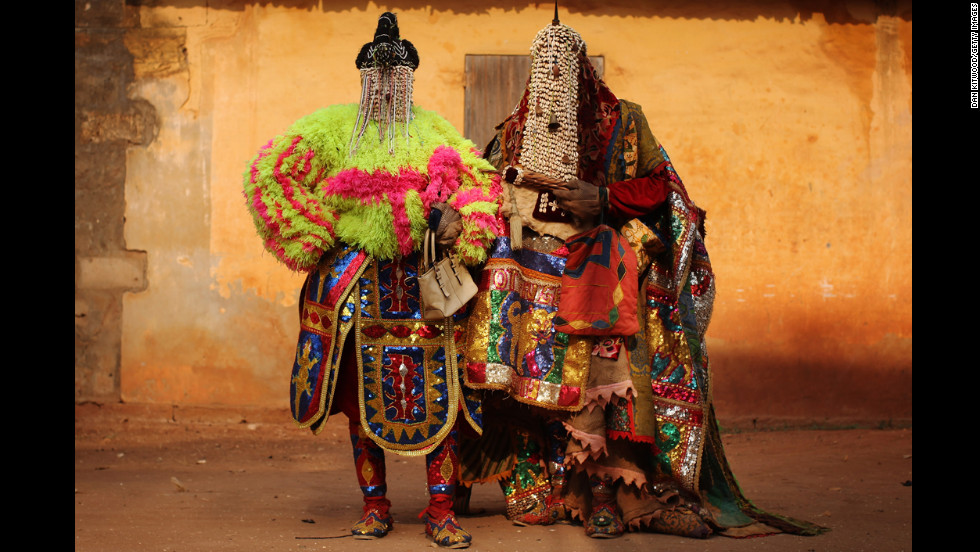"<strong>January 10:</strong> ""Voodoo spirits"" walk the streets in Ouidah, Benin, for the annual Voodoo festival. Ouidah is the Voodoo heartland in this West African nation and thought to be the spiritual birthplace of Voodoo."