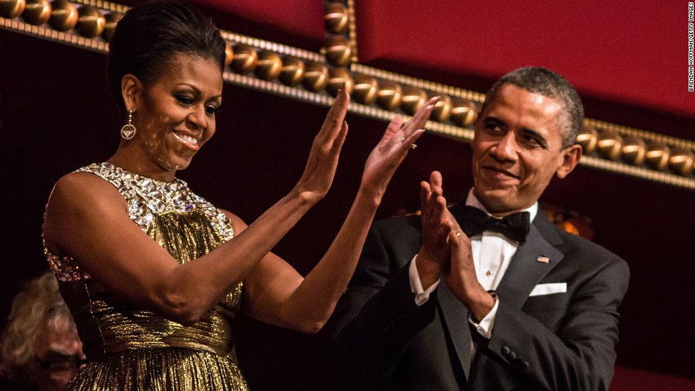 The Obamas celebrate the accomplishments of the Kennedy Center honorees.
